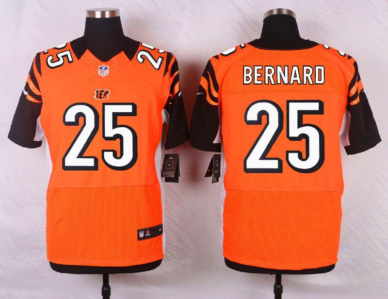 a22c10784 NFL Customize Cincinnati Bengals 25 Bernard Orange Men Nike Elite Jerseys