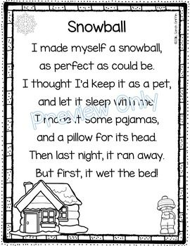 Snowball - Winter Poem for Kids | Kindergarten Themes | Christmas