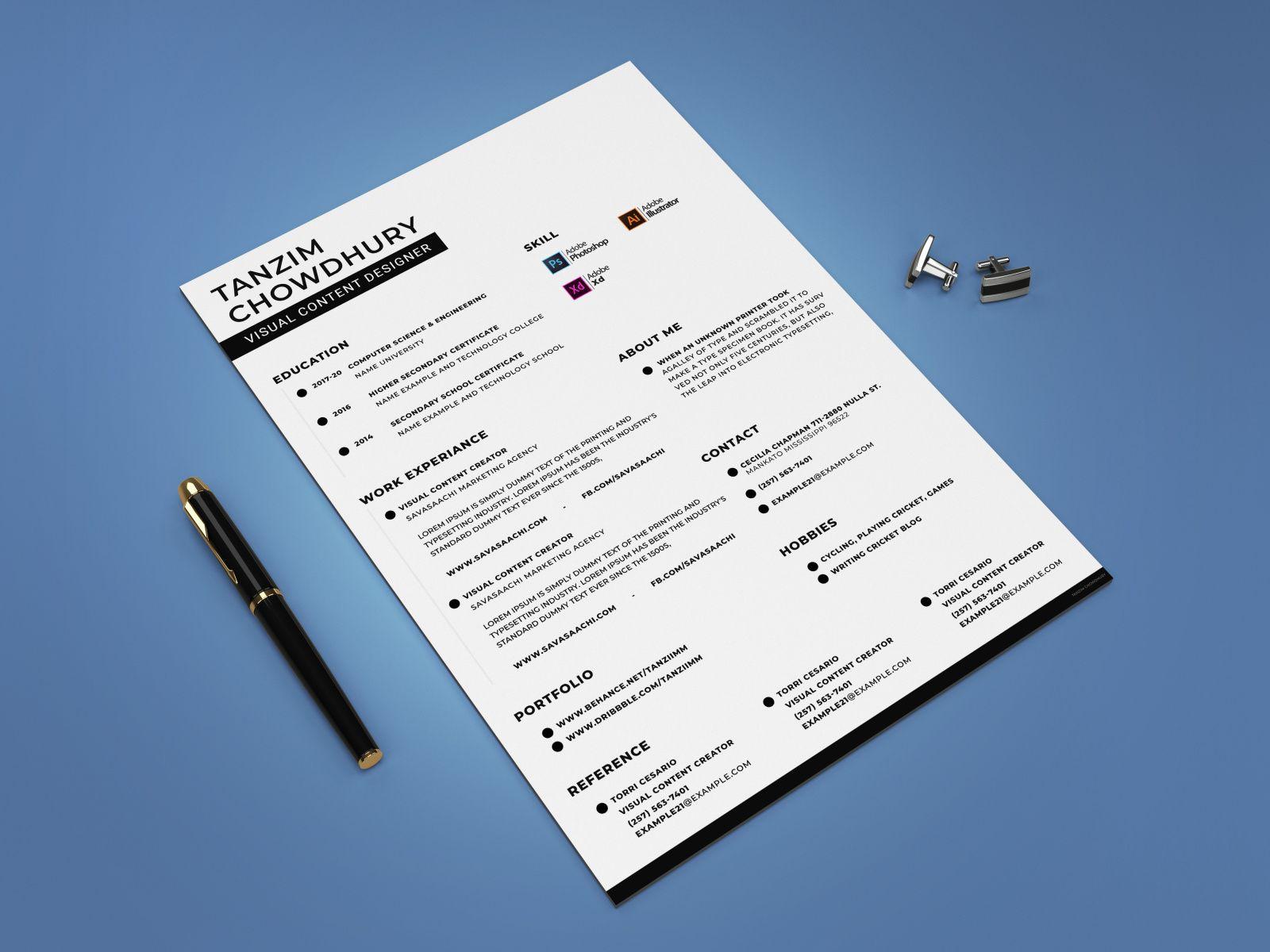 Free Creative Resume Template Creative resume templates