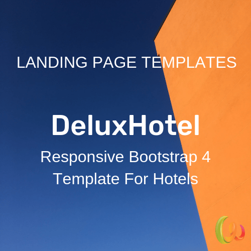 Responsive Bootstrap 4 Template For Hotels