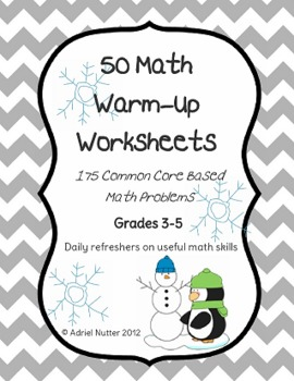 winter math warmup worksheets 50 common core review. Black Bedroom Furniture Sets. Home Design Ideas