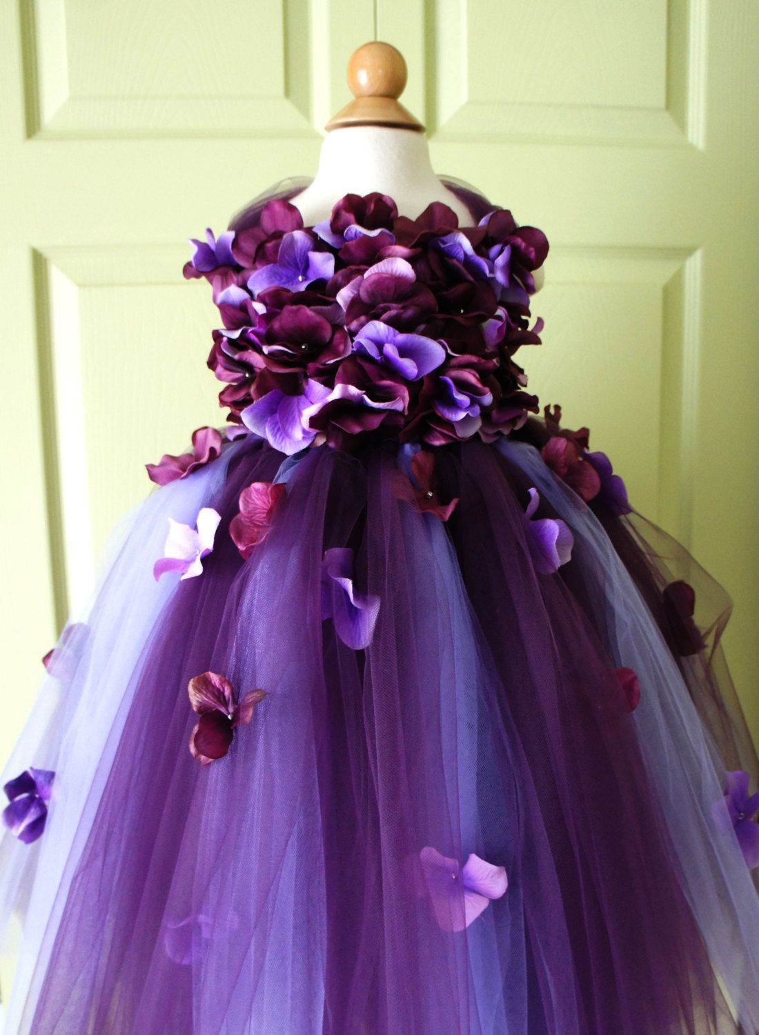Flower Girl Dress Tutu Dress Photo Prop in Purple by FashionTouch ...