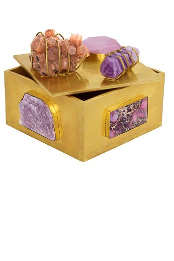 Kelly Wearstler Faceted Rose Quartz Bauble Box I Hand Pick Every Stone Used From All Around The World Xk Kellywearstler Home Deco Deko