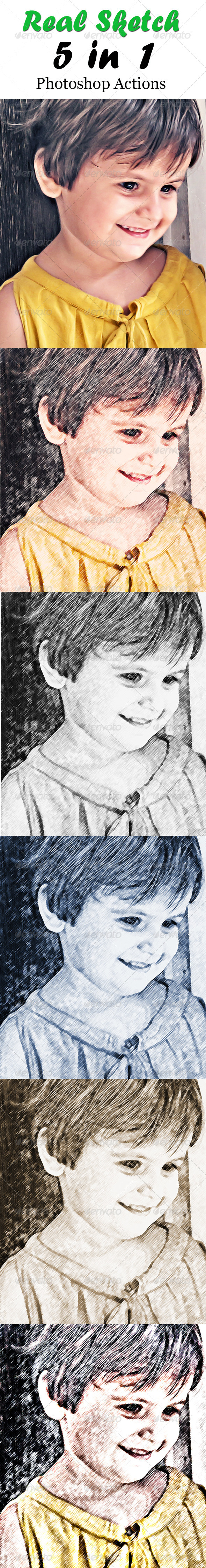 Real Sketch Photoshop Actions  #GraphicRiver         This is a set of 5 sketch actions. You can convert any image into a sketch with just a single click.   HDR Sketch Action Color Sketch Action Black and White Sketch Action New Age Sketch Action Sepia Sketch Action     Created: 7July13 Add-onFilesIncluded: JPGImage #PhotoshopATN MinimumAdobeCSVersion: CS6 WorksWith: JPG Tags: blackandwhitesketchactions #drawingactions #hdrsketchaction #paintingactions #photoshopsketchactions…