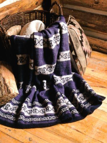 Greek Key Striped Afghan | Yarn | Free Knitting Patterns | Crochet ...