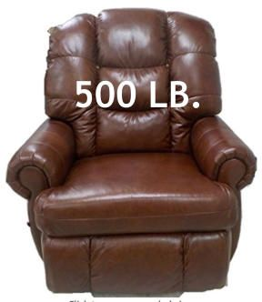 500 Lb Heavy Duty Reclining Chair Free Shipping Save On Sales Tax No Interest Financing Add