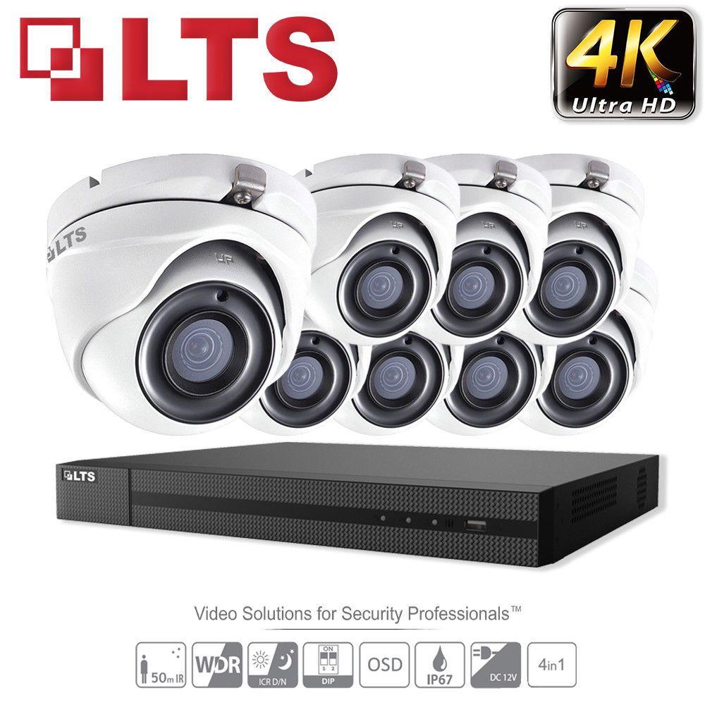 Hikvision 4//8 CH 5MP DVR VARIFOCAL 5MP CCTV HD Bullet Home Security System Kit