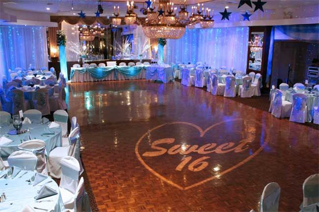 Sweet 16 party ideas princess manor catering hall for 16th birthday party decoration ideas