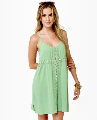 Fancy Free Light Green Dress! Lightweight