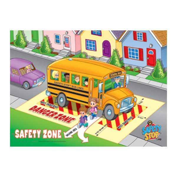 Plastic Lenticular 3d Safety Zone Poster Bus Safety School