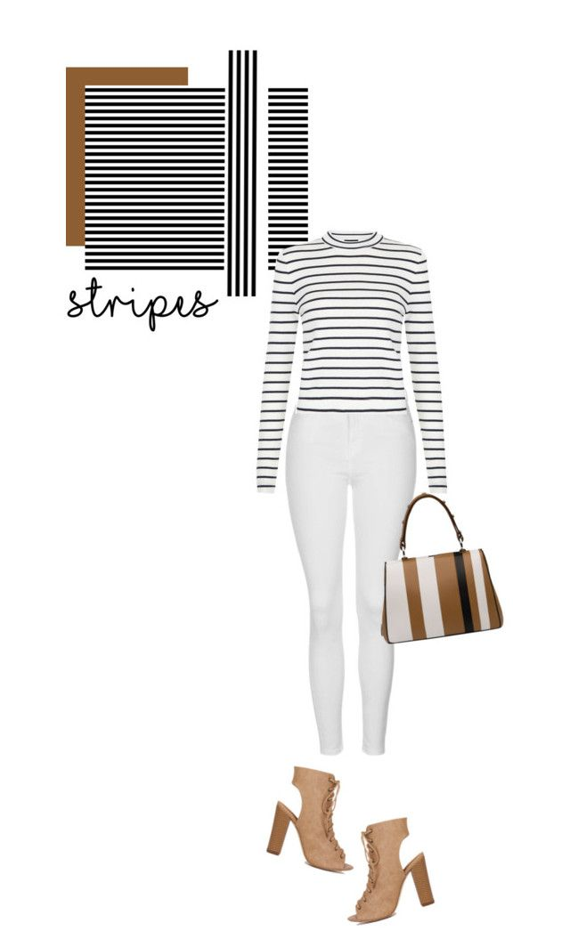 """""""One Direction: Striped Shirts"""" by hajni0103 ❤ liked on Polyvore featuring Topshop, Prada and stripes"""