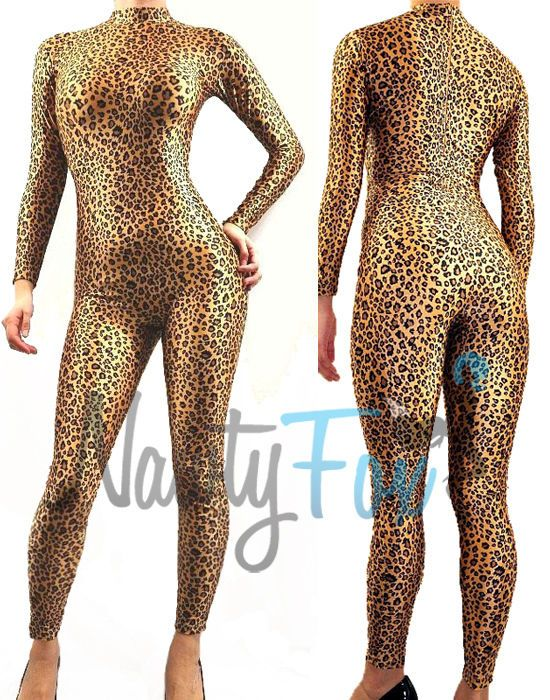CHOCOLATE COLOR PRINTED FEMALE LYCRA BODYSUIT//CATSUIT//DANCE COSTUME//DRAG QUEEN
