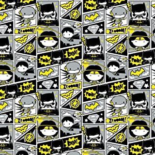 Amazonsmile Dc Comics Fabric Justice League Comic Book In Gray 100 Premium Quality Cotton Fabric Sold By 1 2 Justice League Comics Comic Books Justice League