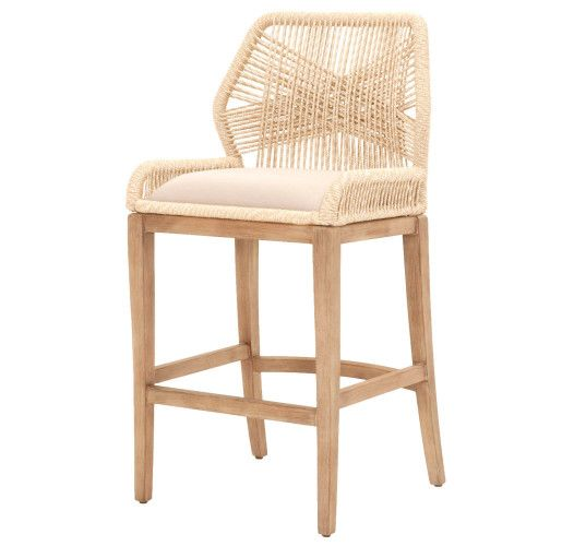 Fabulous Weave Sand Rope Barstool In 2019 Woven Bar Stools Bar Pdpeps Interior Chair Design Pdpepsorg