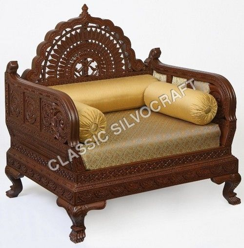 Carved furniture-Carved sofa diwan chair - Indian Carved furniture ...  Wooden ...