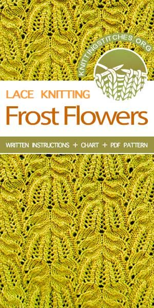 Frost Flowers Knitting Stitches Pinterest Lace Knitting