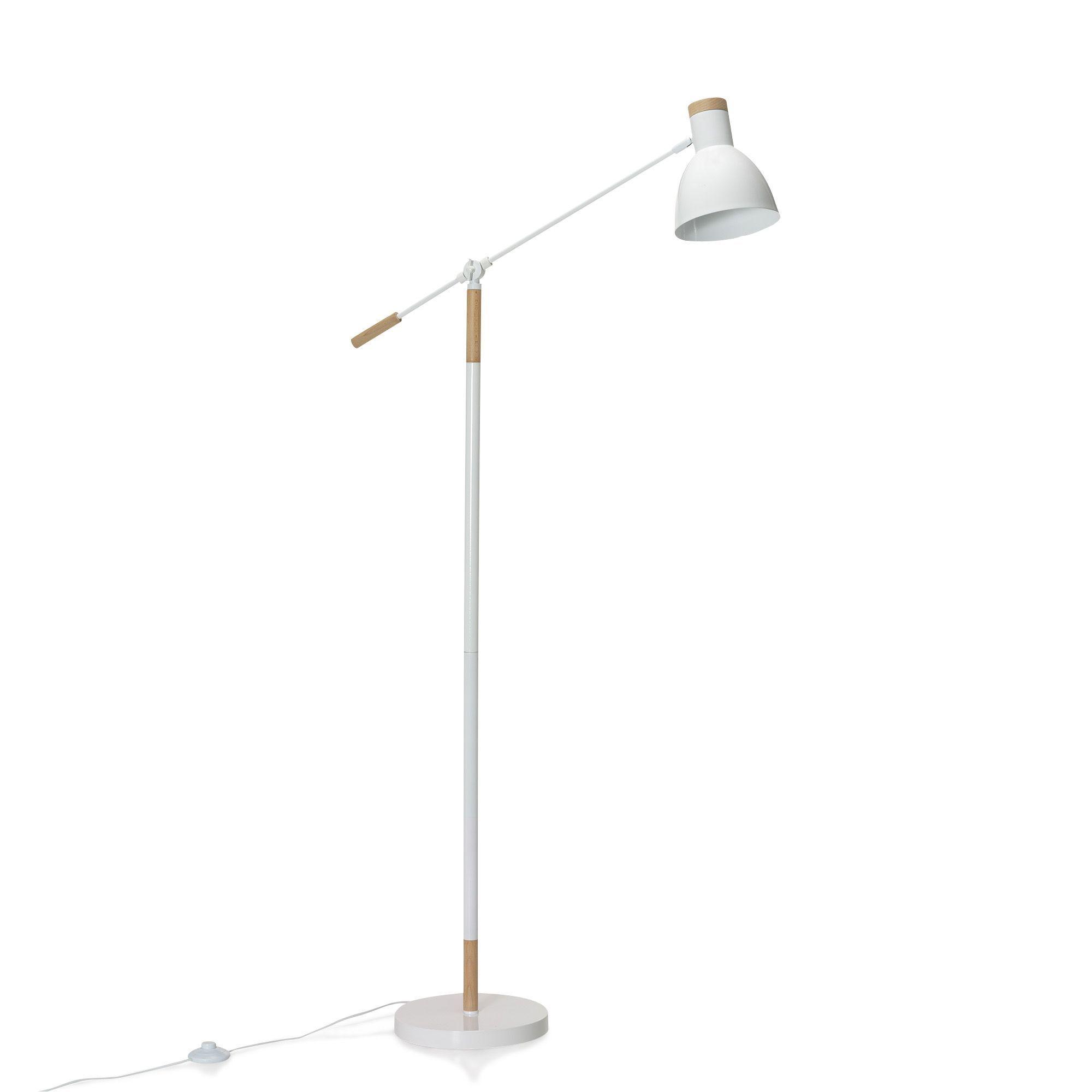 Lampadaire style scandinave H156cm Blanc - Wanda - Les lampadaires ...