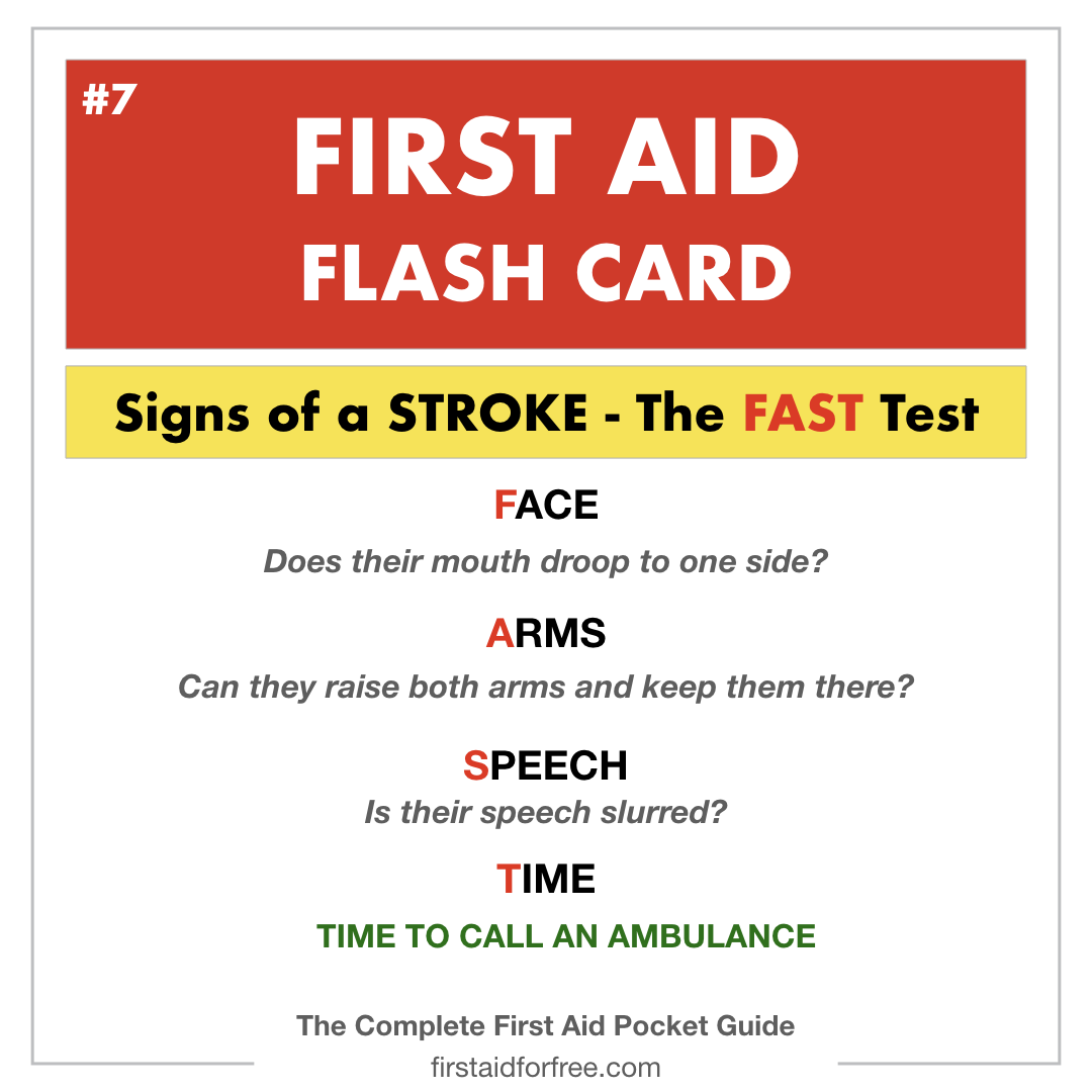 Free First Aid Flashcards Available To Download From Firstaidforfree Com Content Based Upon Our New First Aid Pocket Guide Flashcards First Aid First Aid Tips