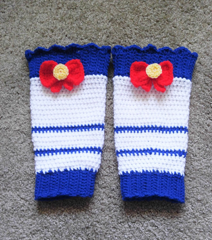 Sailor Moon Inspired Leg Warmers Crochet Pattern By