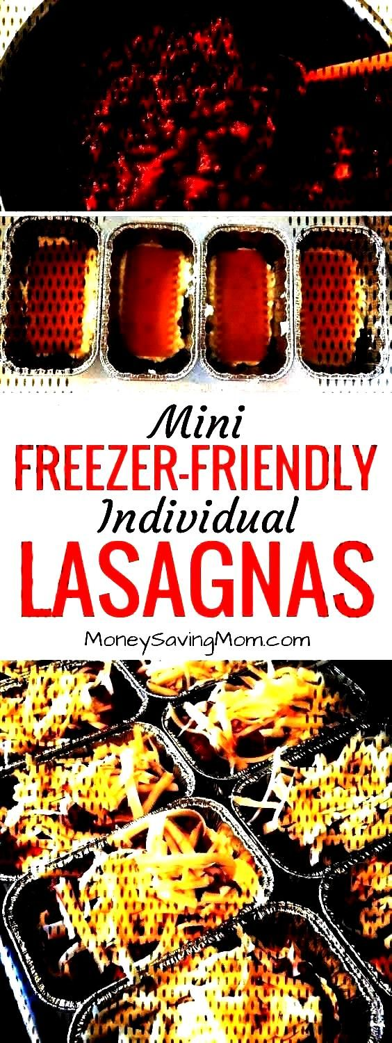 Mini Lasagnas {Freezer-Friendly -Easy Individual Mini Lasagnas {Freezer-Friendly -  These mini indi