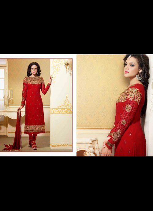 Butta Red Salwar Kameez #wedding #ShalwarKameez #Designer #Pakistani  #unstitched  #Suits  #AsianClothes #Indian #trendz #Reception #Fashion #Punjabi #Style #Dresses #Embroidery #Bollywood #indiantrendz