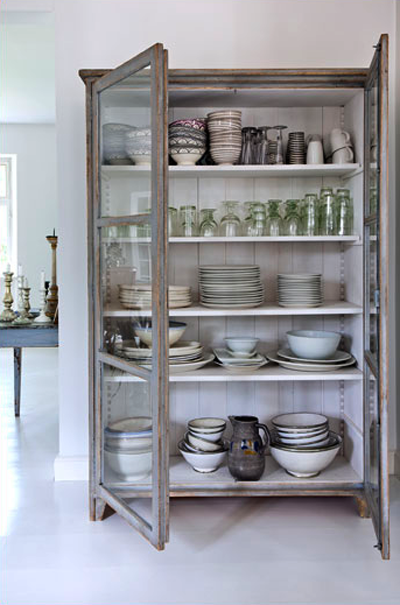 Beautiful Grey Storage Cabinet