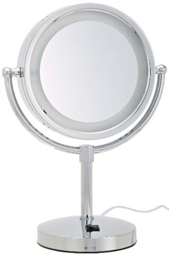 Jerdon Hl745co 85inch Halo Lighted Vanity Mirror With 5x Magnification Chrome Finish Learn More By Visiting The I Lighted Vanity Mirror Mirror Vanity Mirror