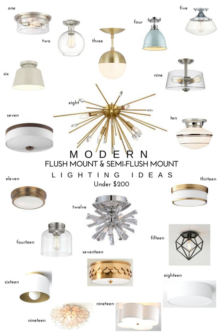 20 Modern Flush Mount Semi Flush Mount Lighting Ideas