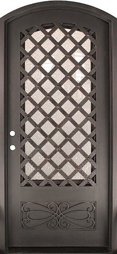 46\  x 97\  Trellis Prehung Iron Door Unit & 46\