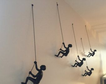 1 Piece Climbing Sculpture Wall Art Gift For Home by MTLDecor
