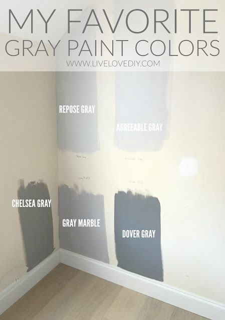 The Best Gray Paint Colors Revealed Livelovediy Blog Pinterest Gray Paint Colors Gray