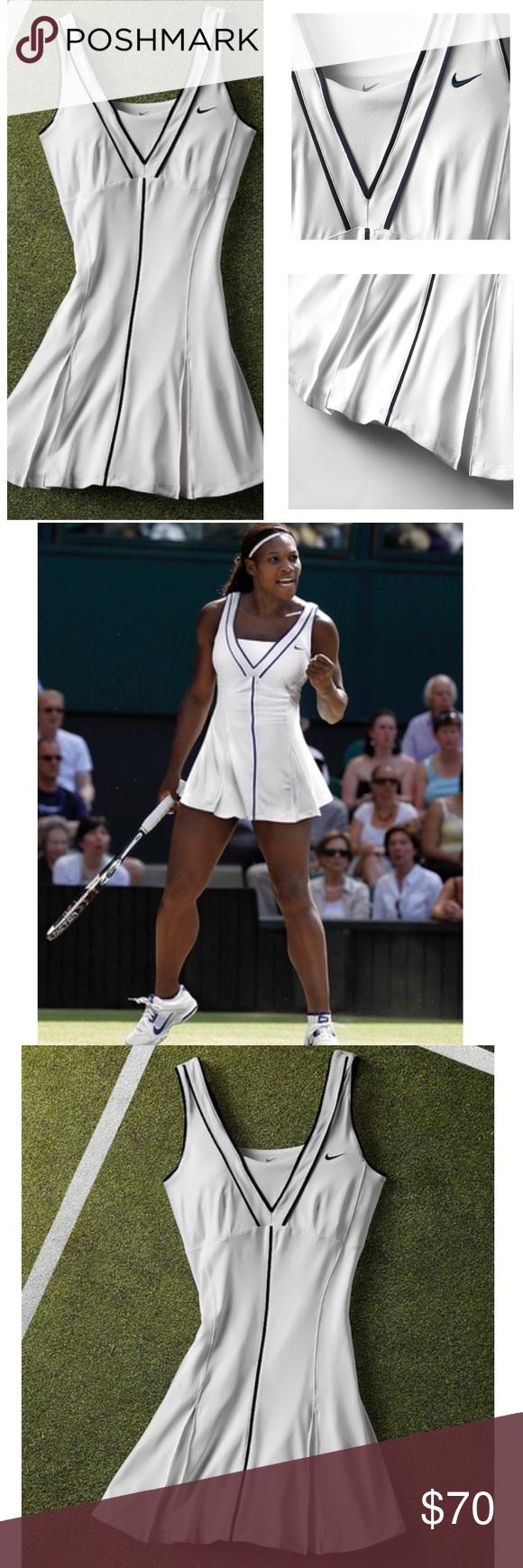 Nike Aso Serena Williams White Smash Tennis Dress Tennis Dress Nike Dresses