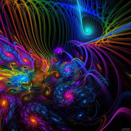 Rainbow Spirit Woman #digitalart #art