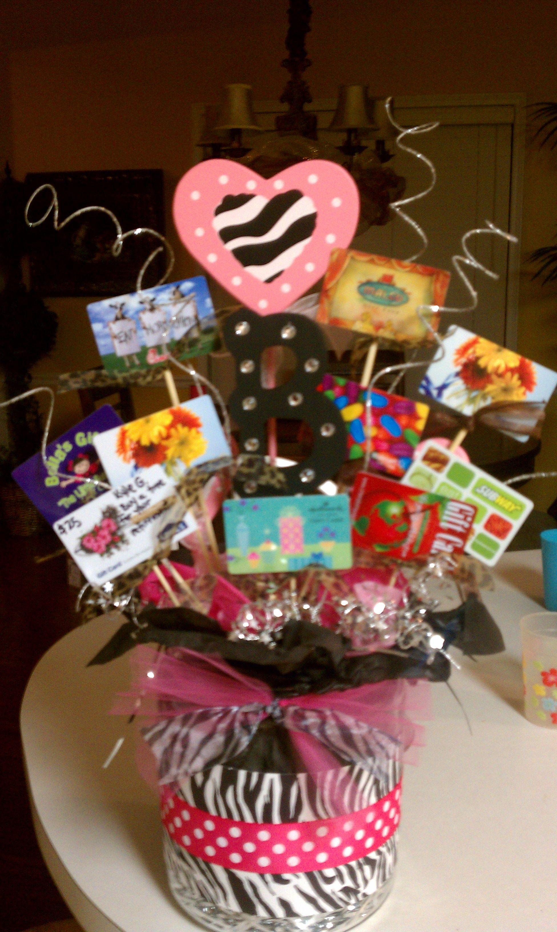 Gift card bouquet marsha penner lael girls pinterest