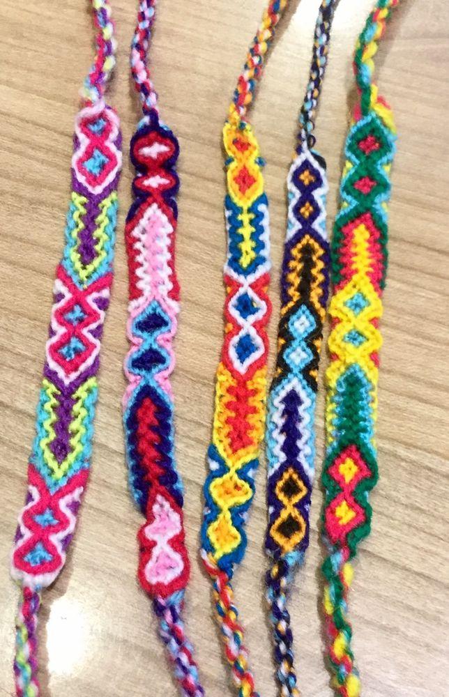 ad16e67dbd5 Friendship Bracelets Woven Wholesale 6 Pieces Unisex Wristband Fair Trade  Surfer