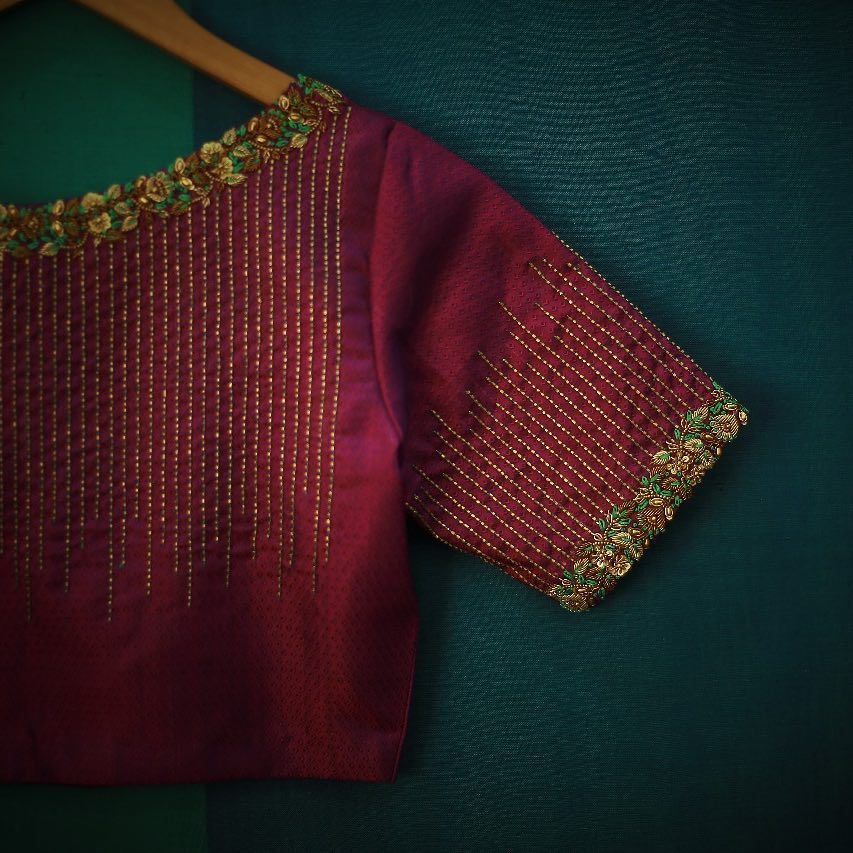 A Blouse For Every Saree Every Occasion Embroidery Blouse Designs Embroidered Blouse Designs Simple Blouse Designs,Simple Home Furniture Design Hall