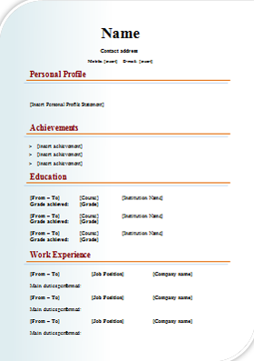 resume template sample get professional resume format