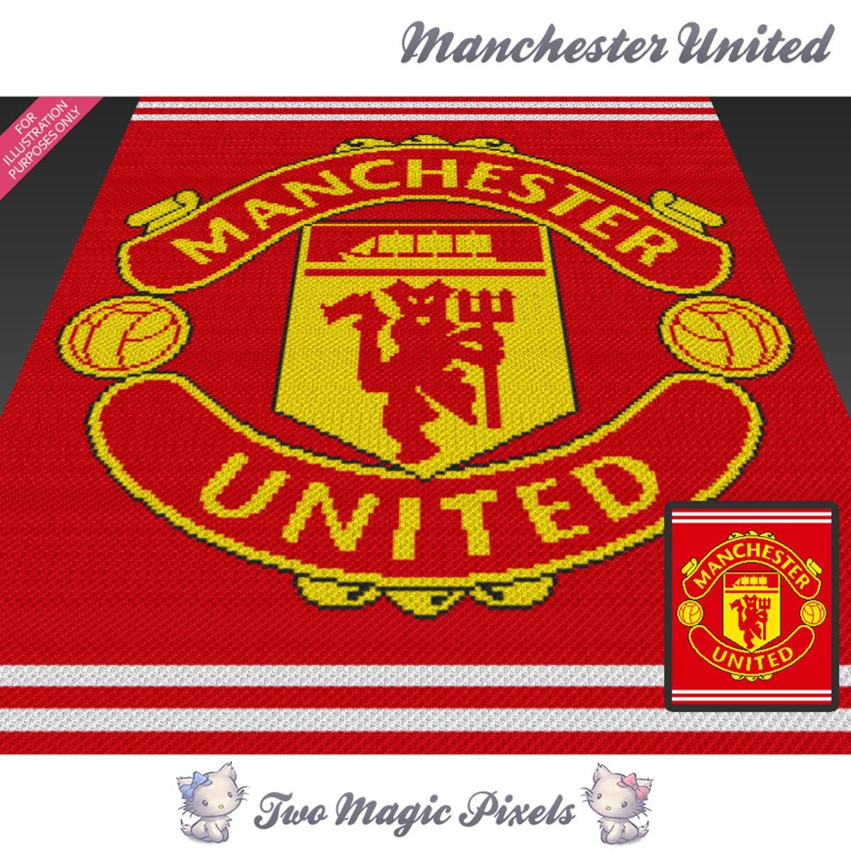 Manchester United Crochet Graph   Craftsy   projects   Pinterest