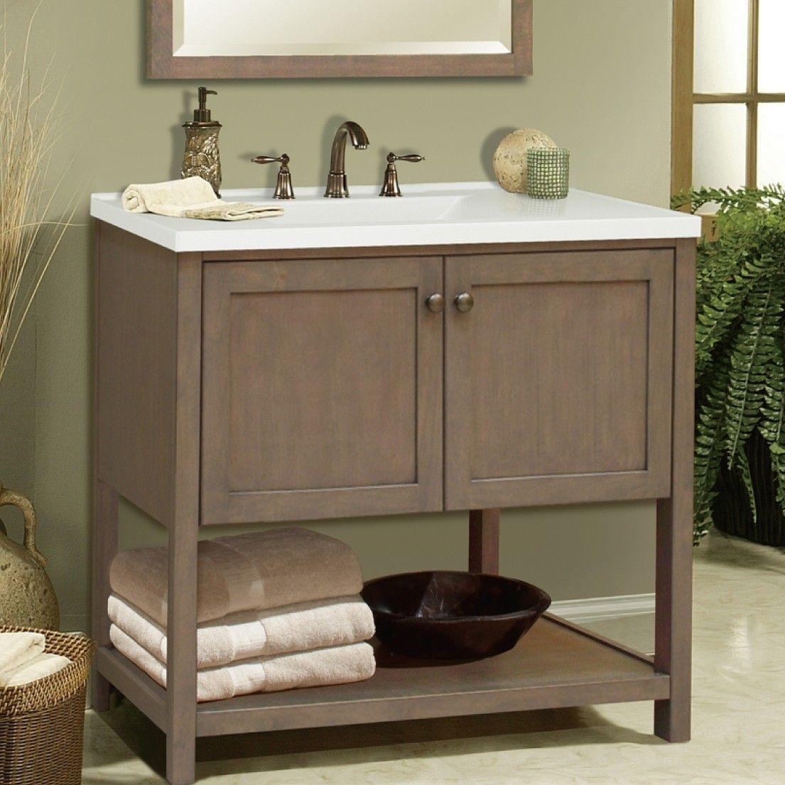 Milani 36 Single Bathroom Vanity Base Only Bathroom Vanity Base