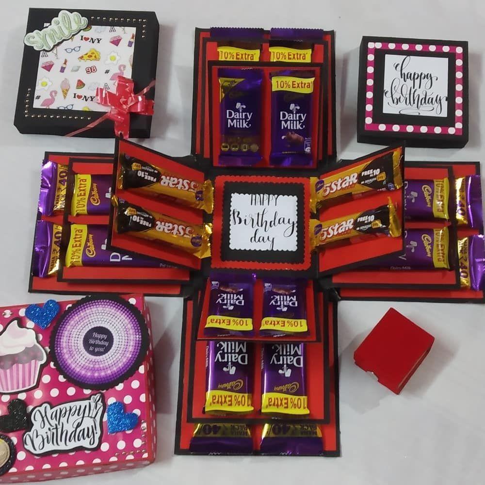 Joyeux anniversaire Tony mini coeur tin cadeau pour Tony avec chocolats