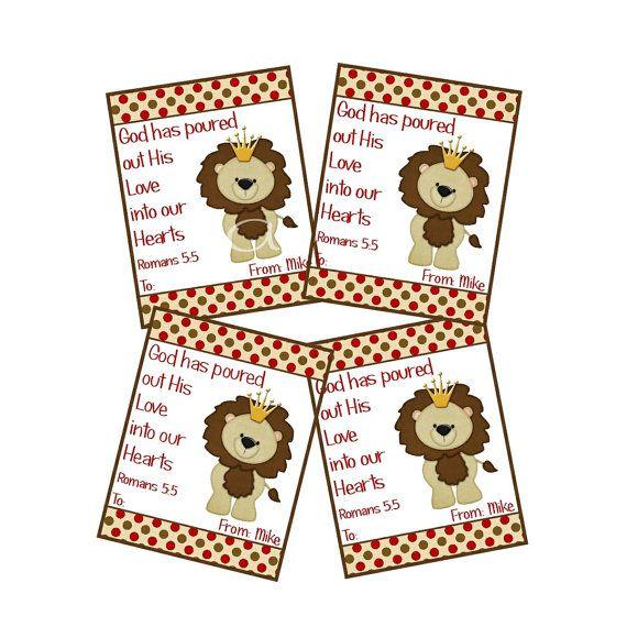 lion personalized valentine cardowlalwaysloveuprints