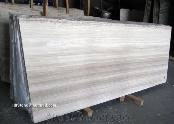 White Wooden Marble Slabs White Wood Grain Marble White