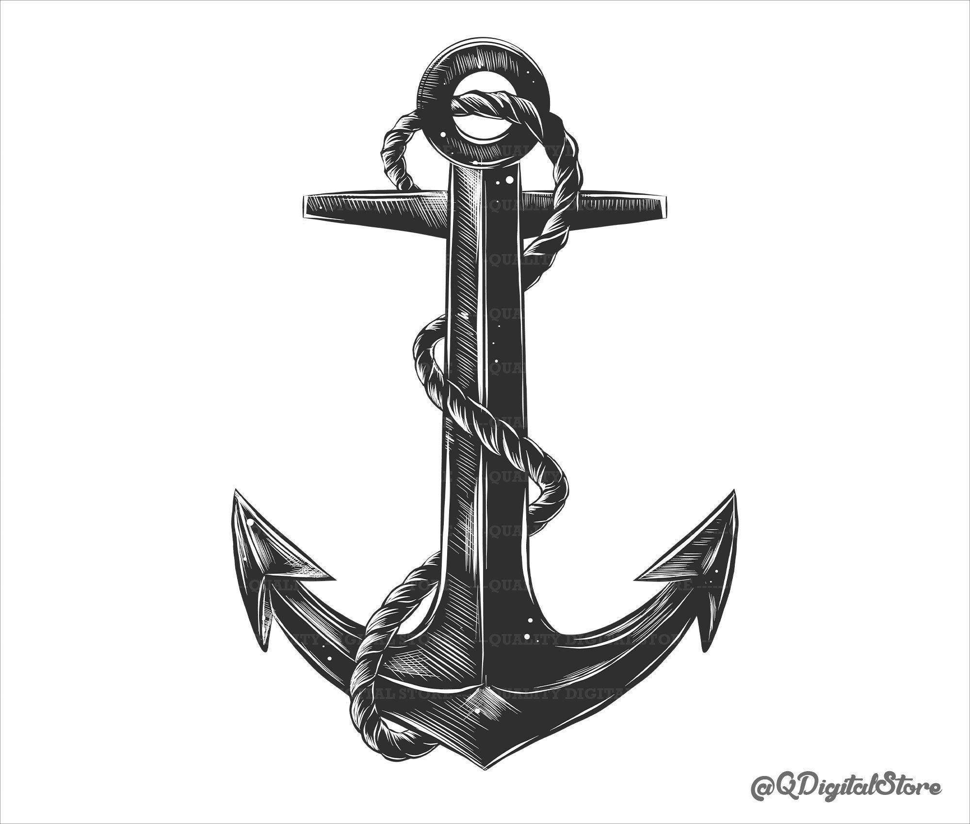Anchor Svg Anchor Vector Anchor Digital Download Anchor T Shirt Design Png Eps Svg Psd Ai In 2021 Anchor Drawings Navy Anchor Tattoos Anchor Tattoo Men