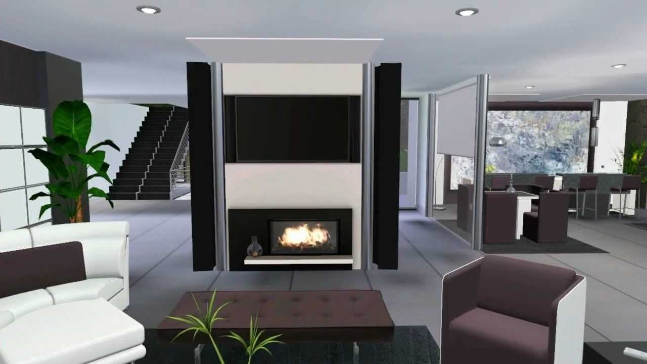 Sims 3 Celebrity Luxury House VR .2 (Modern Design)looks | Sims 3 ...