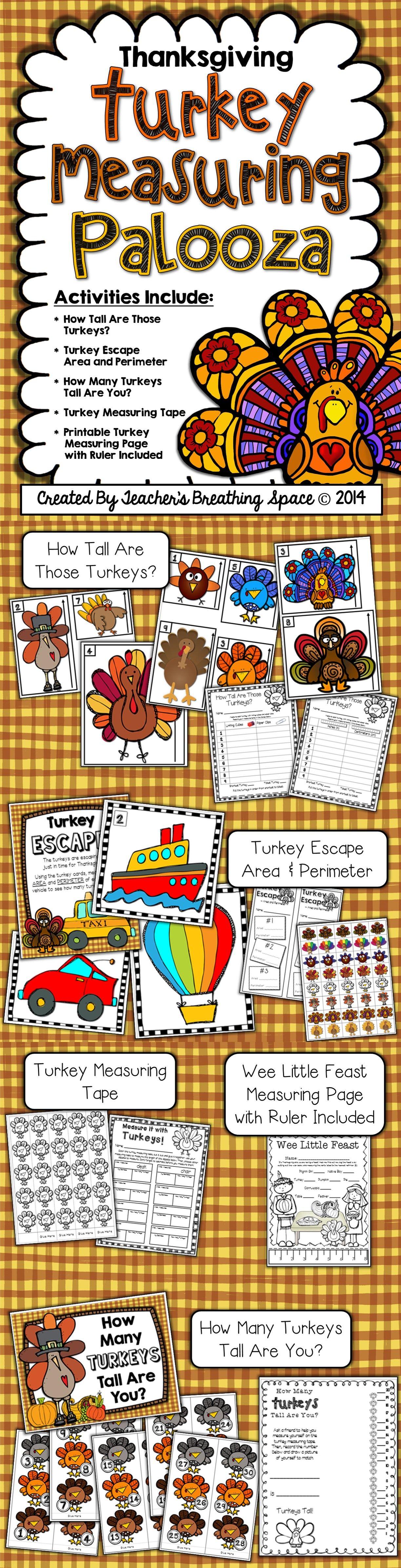 Thanksgiving Measuring Turkey Measuring Palooza Math