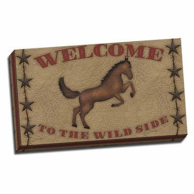 Picture it on Canvas 'Welcome to the Wild Side' Graphic Art Wrapped Canvas