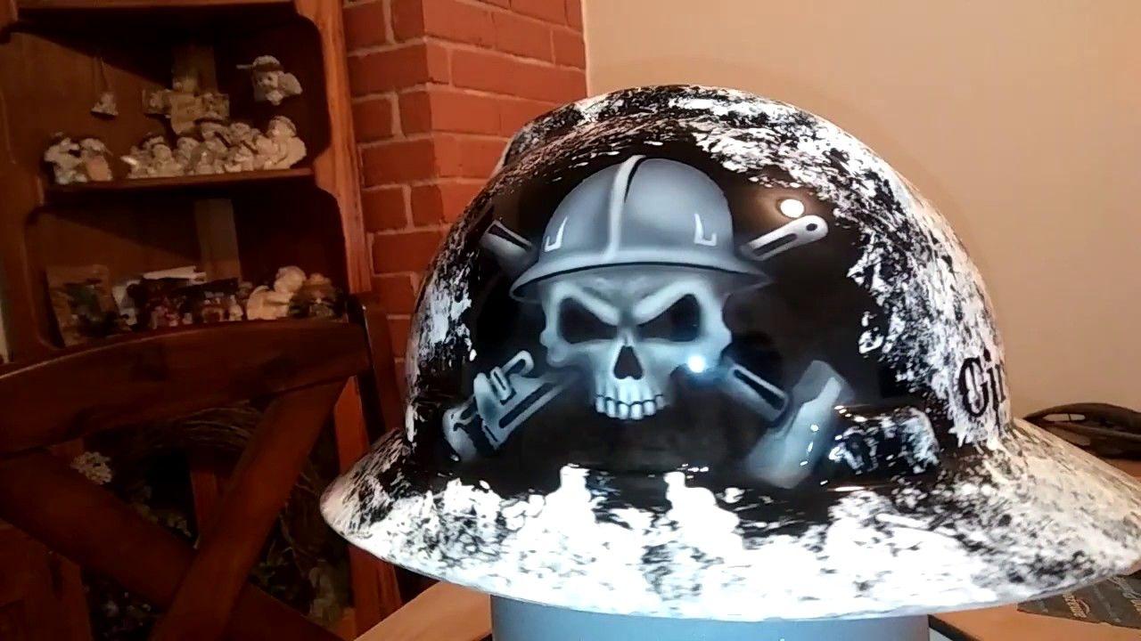 Custom painted hard hat Oilfield Design  ae5c043b9c1e