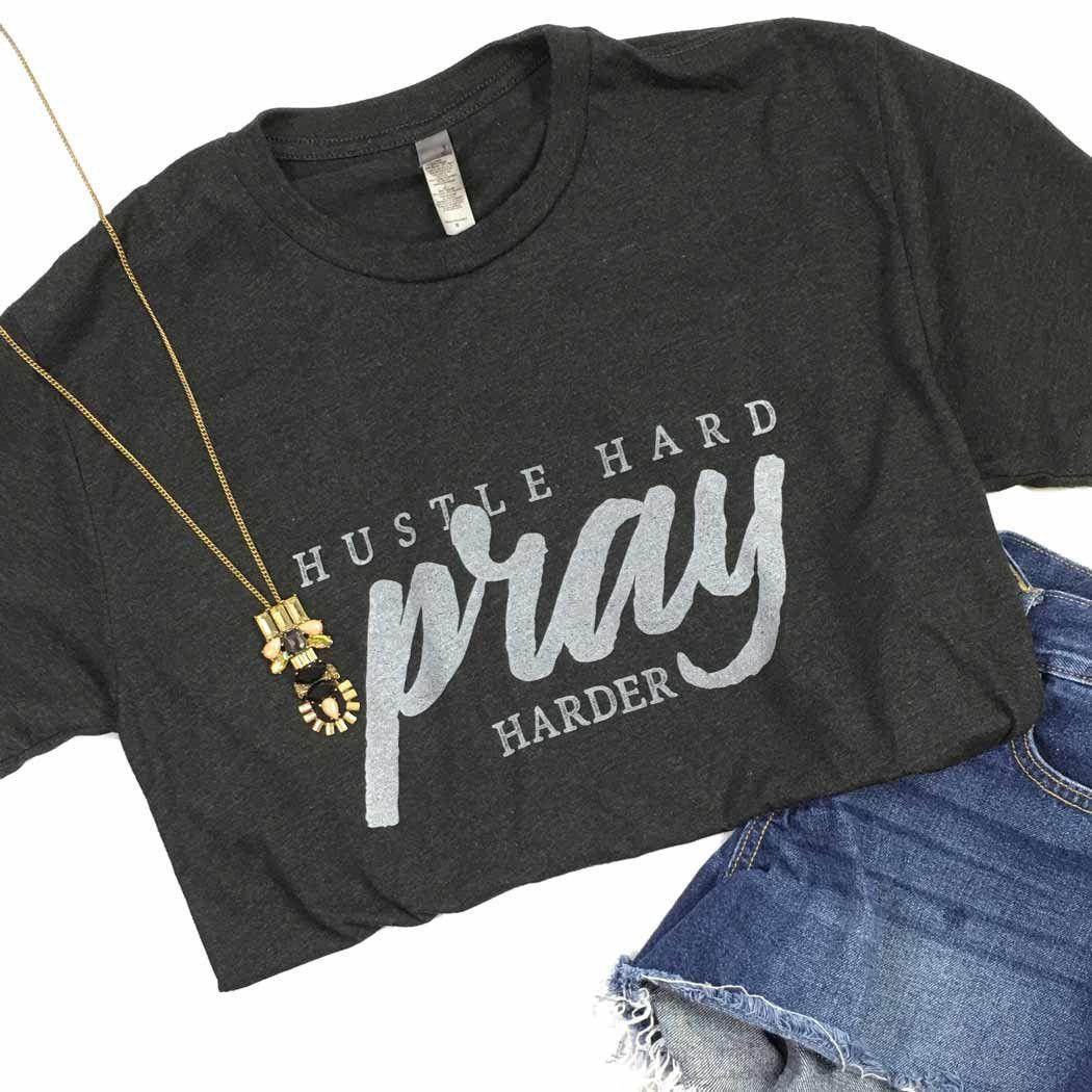 jesus christ HUSTLE HARD PRAY HARDER Mens Cotton T-Shirt