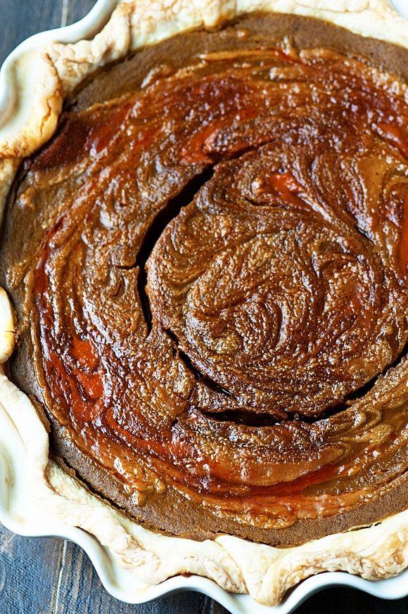 Pumpkin Cookie Butter Pie