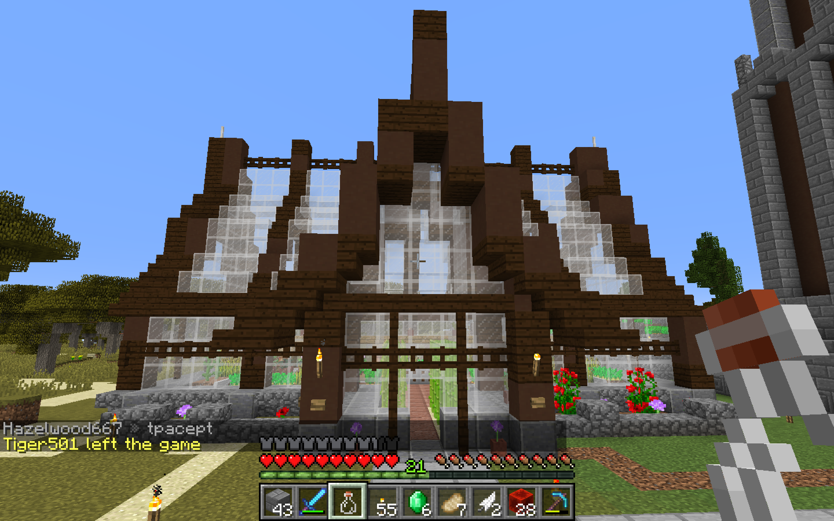 Greenhouse Based Off Of Grian S Design Minecraft Farm